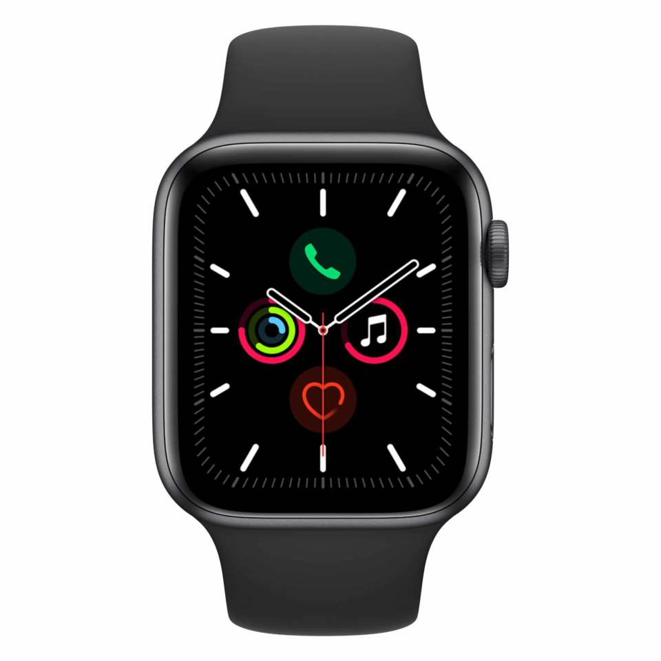 Apple Watch Series 3 GPS 38mm Space Grey Aluminium Case with Black Sport Band MTF02X/A